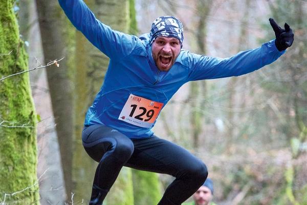 Canicross Streetwald Cross Dirt Run Teilnehmer