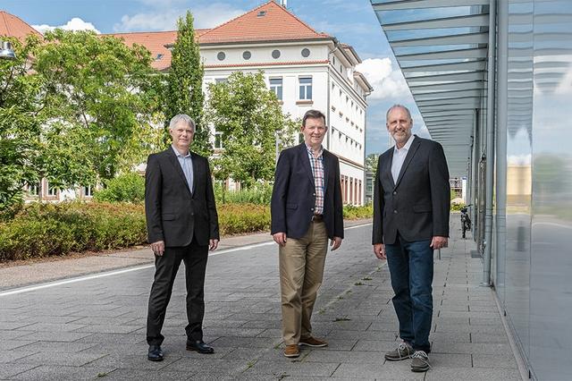 v.l.n.r.: Prof. Dr. Martin Bothen, Prof. Dr. Konrad Mußenbrock, Prof. Dr. Peter Fischer