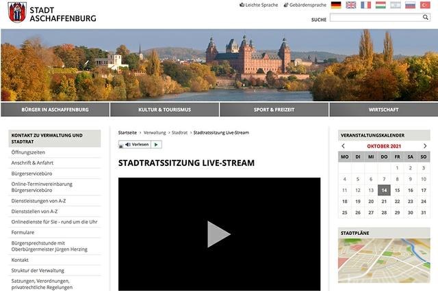 Stadtratssitzungen-Livestream